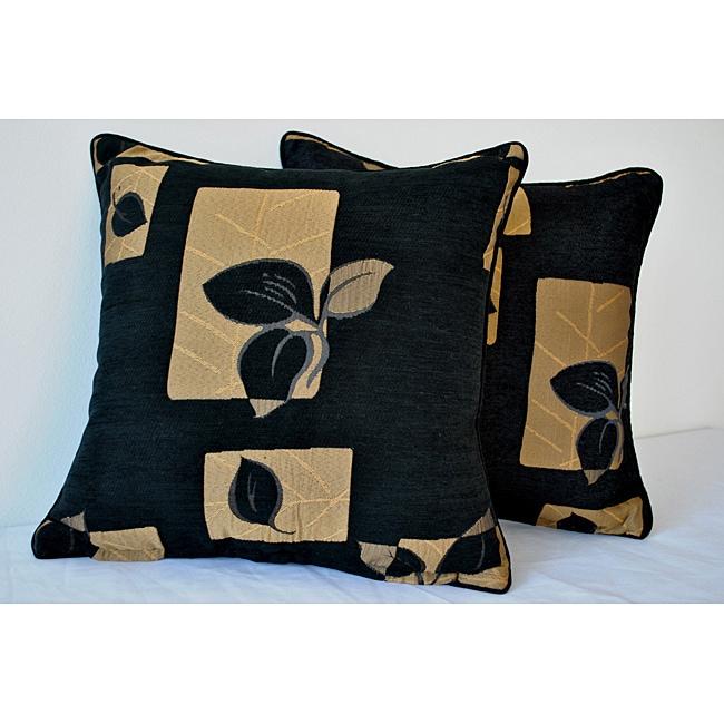 Sherry Kline 18-inch Leigh Black Decorative Pillows (Set of 2)