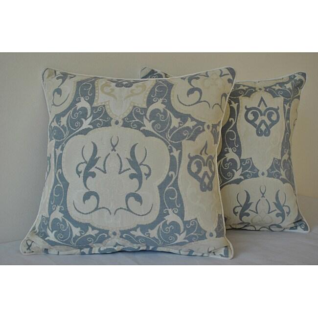 Sherry Kline 18-inch Emporium Ivory Decorative Pillows (Set of 2)