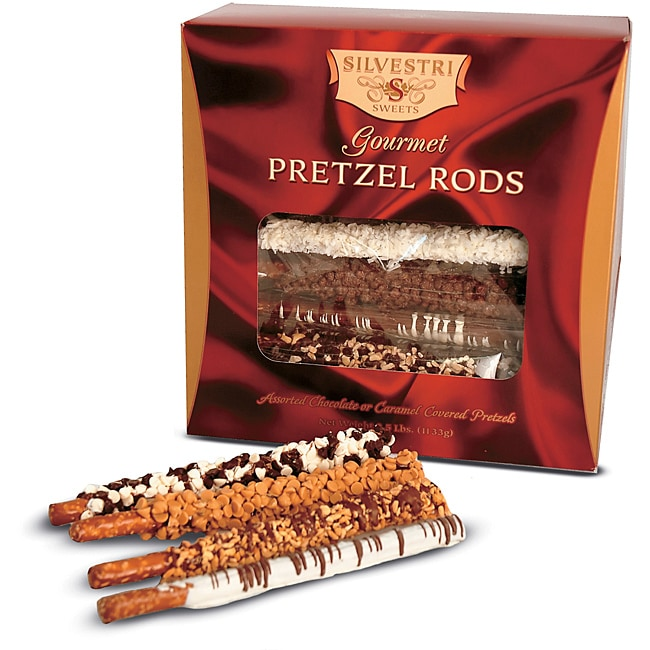 Silvestri Sweets Gourmet Caramel and Chocolate Covered Pretzels (Set of 30)