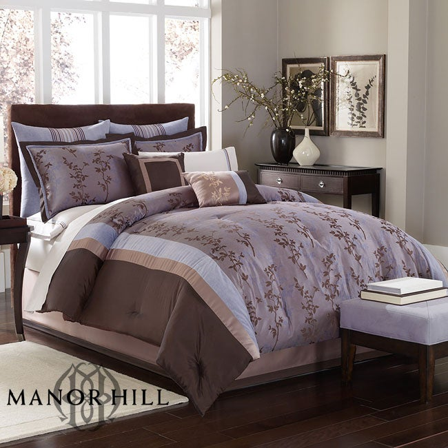 Manor Hill 'Baxter' Full and Queen 8-piece Bed in a Bag with Sheets Set