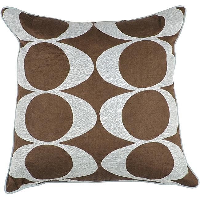 Decorative Space Brown/Light Blue Pillow