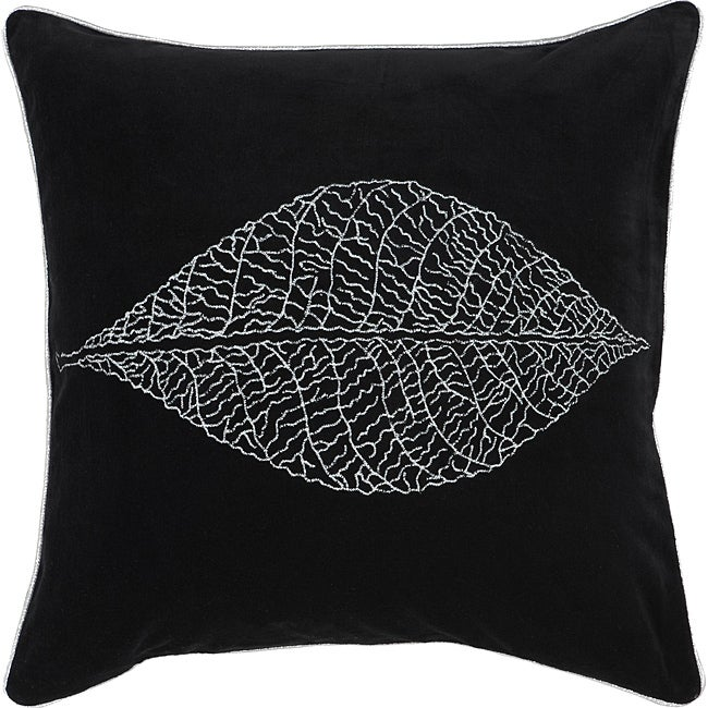Decorative Sqaure Mink Medium Black/Silver Pillow