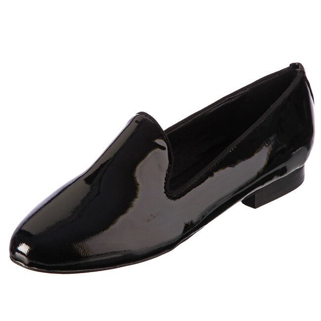 Kelsi Dagger Women's 'Frances' Black Smoking Flats