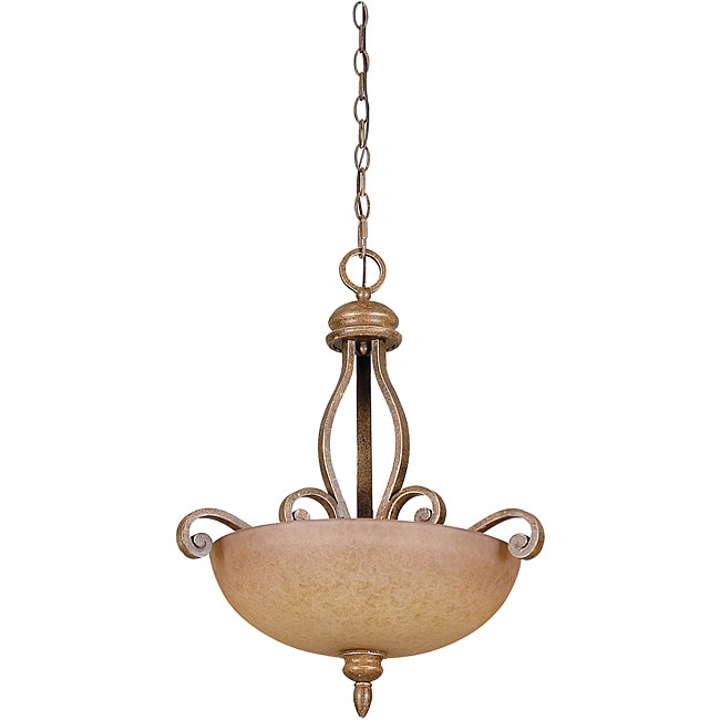 Luminance 3-light Bowl Pendant Fixture