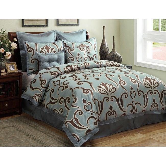 Largo 8-piece King-size Comforter Set