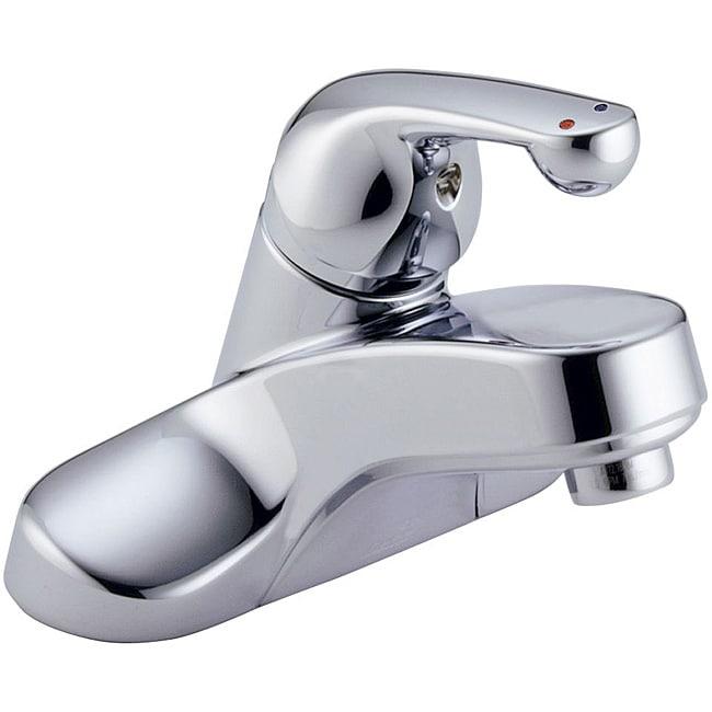 Delta Single Handle 4-inch Centerset Chrome Lavatory Faucet