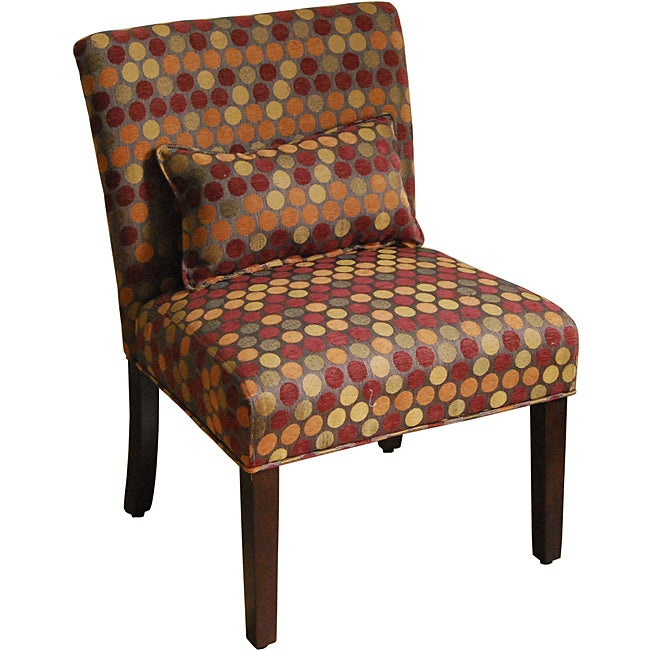 Dot Fabric Accent Chair with Pillow