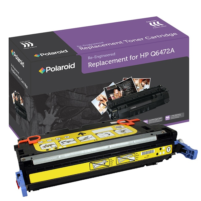 HP 501A Yellow Toner Cartridge by Polaroid (Remanufactured)
