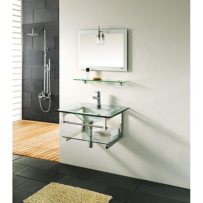 Tempered Glass Bathroom Vanity
