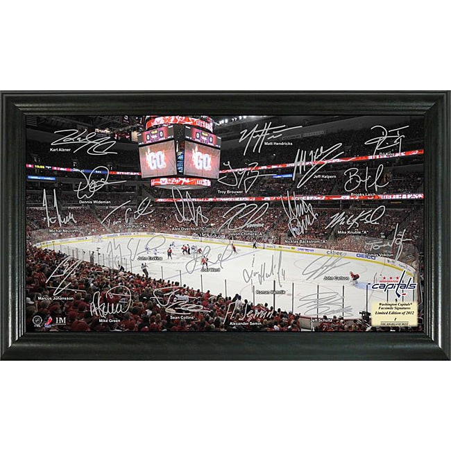 Highland Mint Washington Capitals Rink Team Autographed Framed Photo