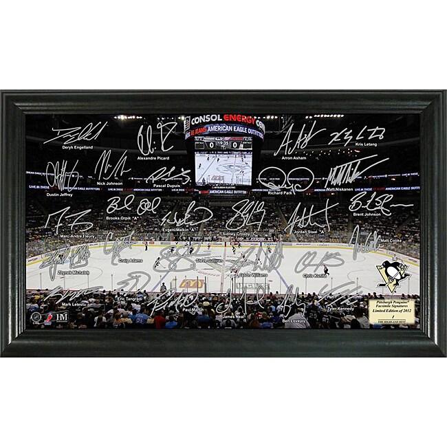 Highland Mint Pittsburgh Penguins Rink Team Autographed Framed Photo