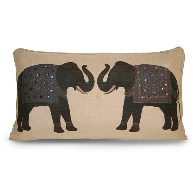 Elephant Twins Pillow