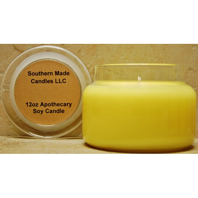 Southern Made Candles Yellow 12-oz Apothecary Soy Candle