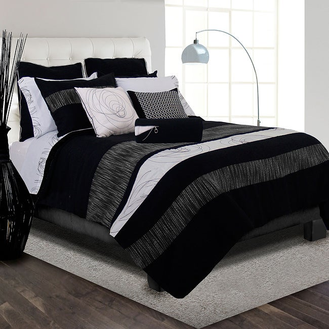 Onyx Full-size 8-piece Bed in a Bag with Sheet Set
