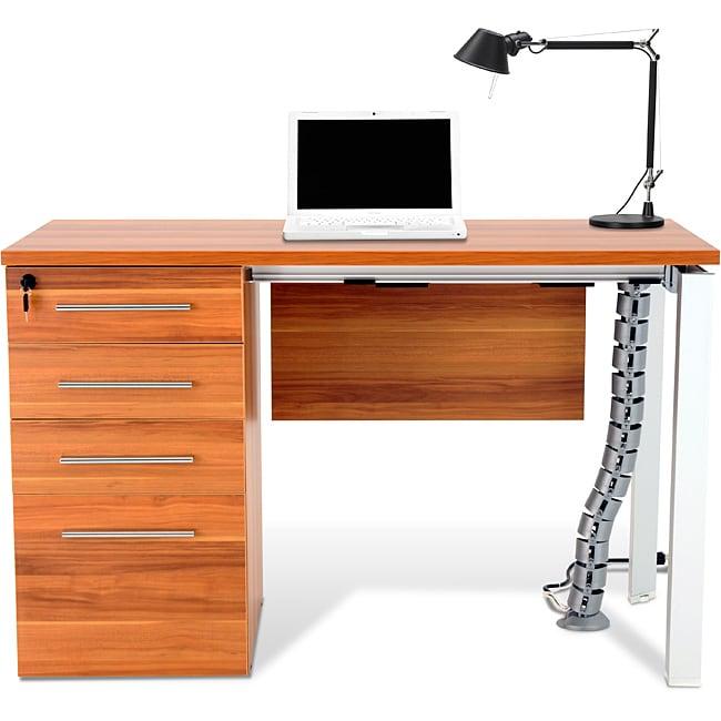 Jesper Office Applewood Work Desk with Drawers