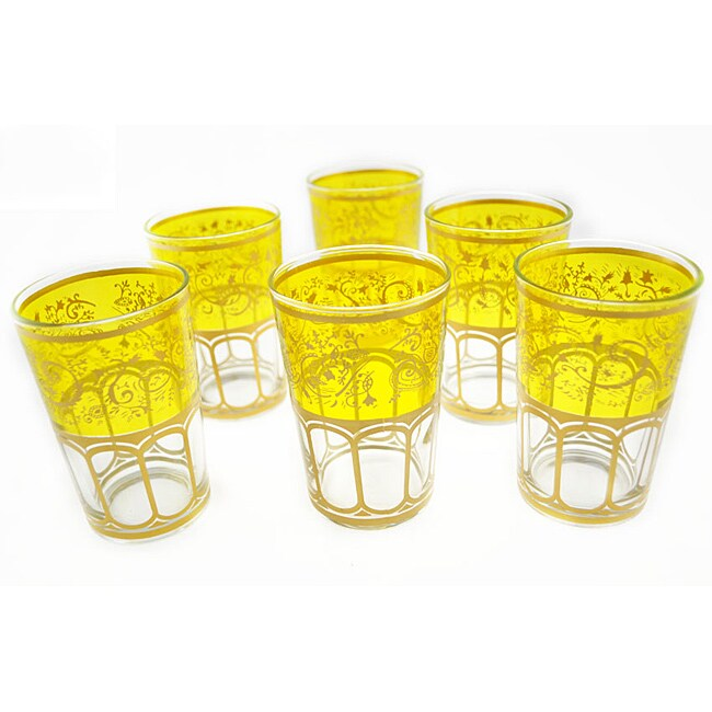 Mek Yellow Tea Glasses (Morocco)