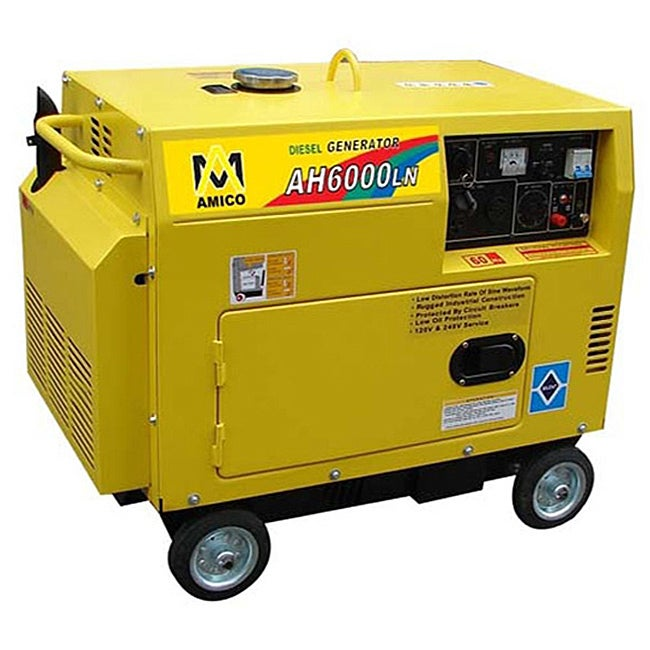 Amico 6000 Watt Diesel Generator With Electric Start - Thumbnail 0