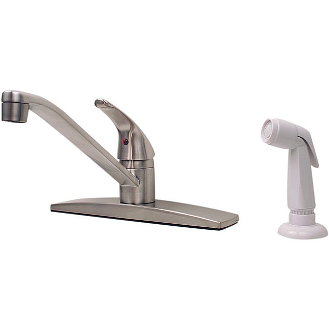 Price Pfister Single-handle Stainless Steel Kitchen Faucet with Spray