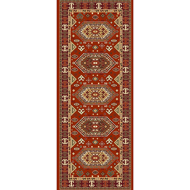 Woven Viscose Morocco Red Runner Rug (2'2 x 5')