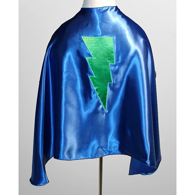 Power Capes Blue and Green Lightning Bolt Superhero Cape - Thumbnail 0