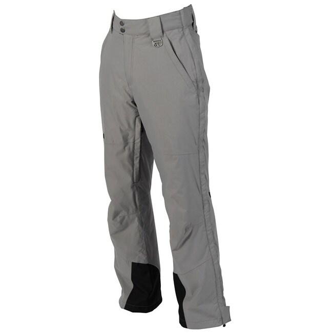 Shop Marker Men S Grey Pop Side Zip Insulated Pants Free