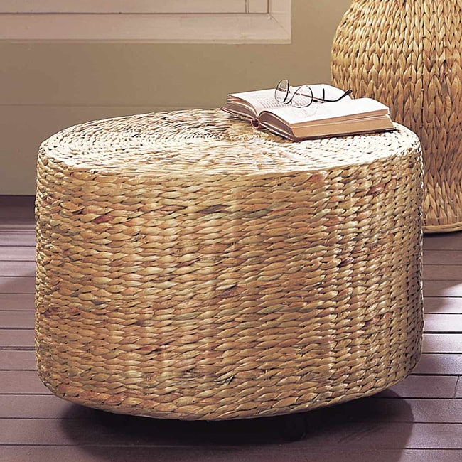 Water Hyacinth Ottoman Free Shipping Today Overstock
