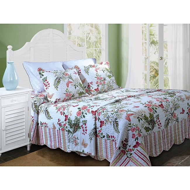 Greenland Home Fashions Secret Garden Quilted Queen-size Bedspread