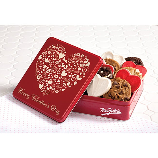 Mrs. Fields Loveable 24 Cookie Valentine's Tin