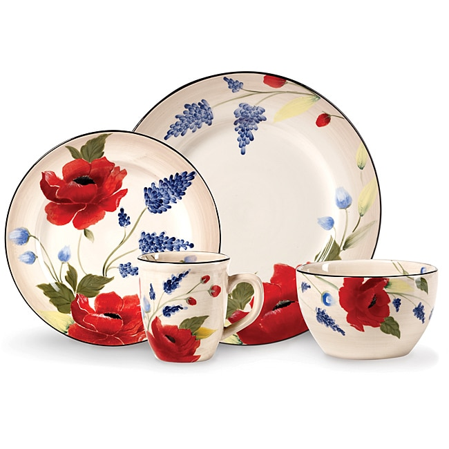 Pfaltzgraff Scarlett 16-Piece Dinnerware Set