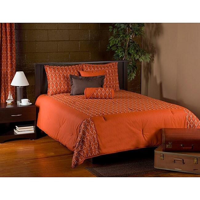 Nokia Orange 6-piece Queen Comforter Set