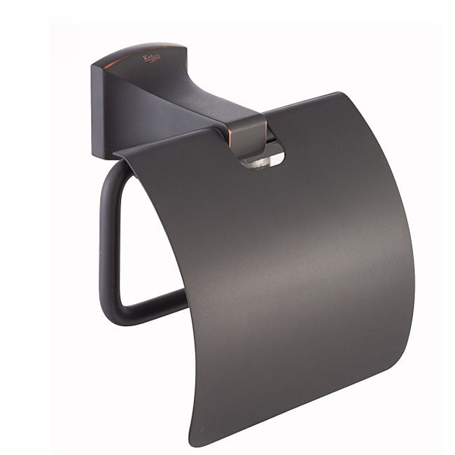 Kraus Fortis Bathroom Accessories - Tissue Holder with Cover Oil Rubbed Bronze