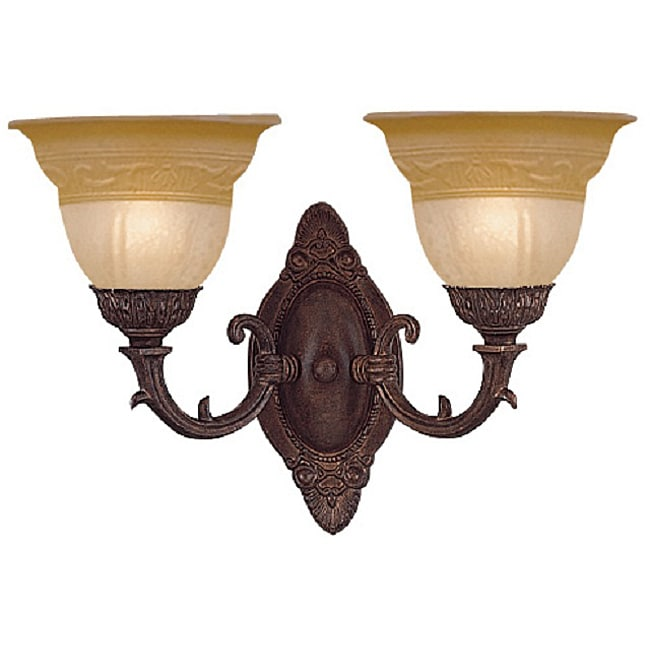 Oxford 2-Light Wall Sconce in Venetian Bronze