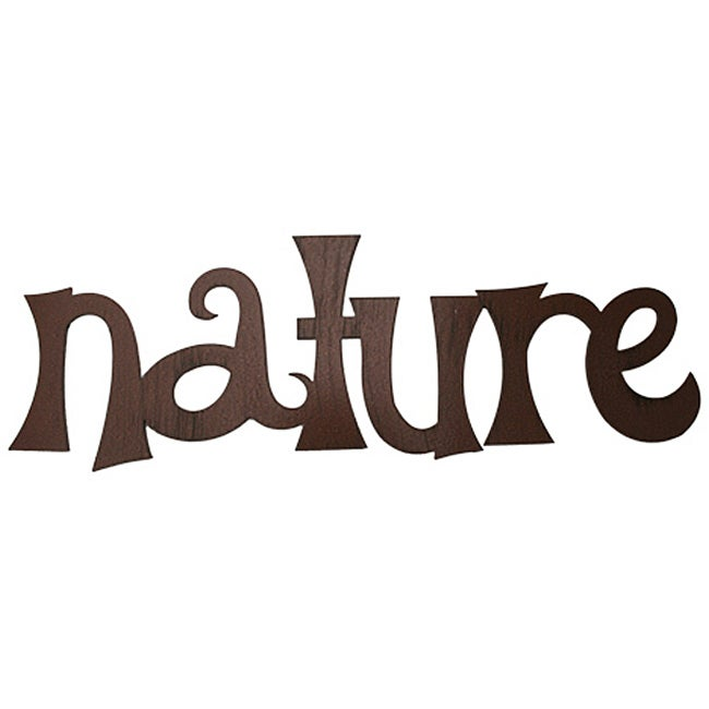 Metal Nature Wall Word Art Free Shipping On Orders