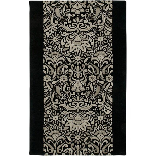 Hand-tufted Averlo Black Area Rug (9' x 12')
