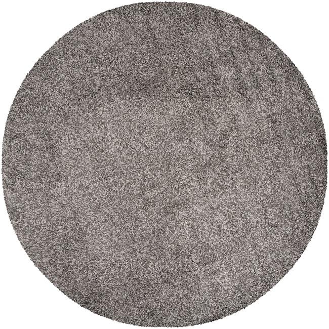 Woven Gray Juyann Plush Shag (8' Round)