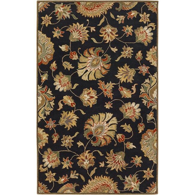 Hand-tufted Black Hippa Wool Area Rug (9' x 12')