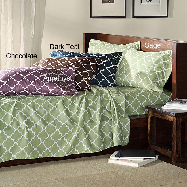 Charleston Full/ Twin-size Dark Microfiber Sheet Set