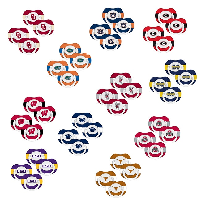 NCAA Pacifier Set (Pack of 4)