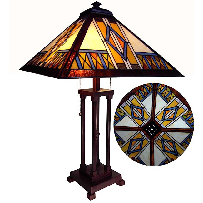Tiffany Style Mission Design Table Lamp - Thumbnail 0