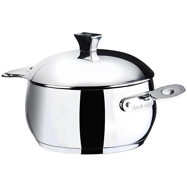 Art & Cuisine Chaudron 11.1-quart Stainless Steel Pot with Lid