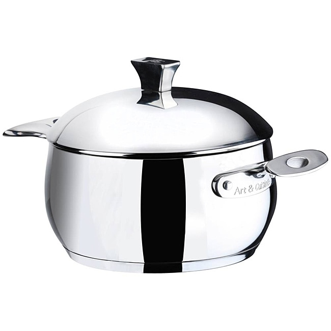 Art & Cuisine Chaudron 3.2-quart Stainless Steel Pot with Lid