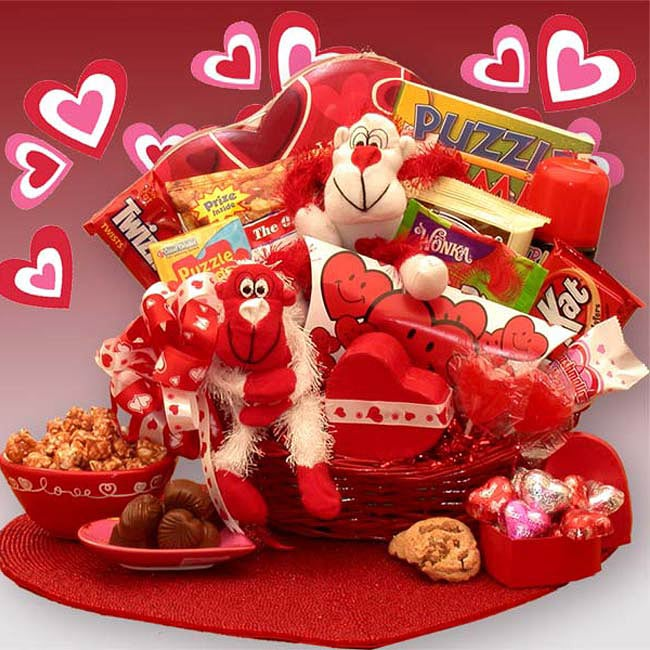 'A Little Monkey Business' Kids Valentine's Gift Basket - Thumbnail 0