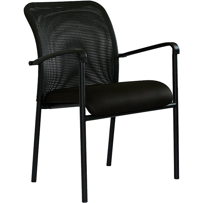 Black Steel Office Visitor's Chair
