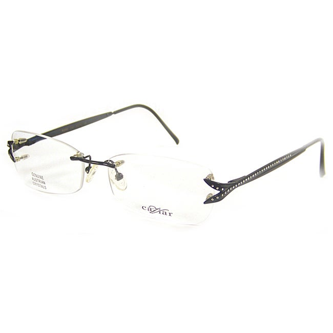 a535282f4298 Shop Caviar Women s 2305 C24 Black Crystal Optical Glasses - Free Shipping  Today - Overstock - 6492010