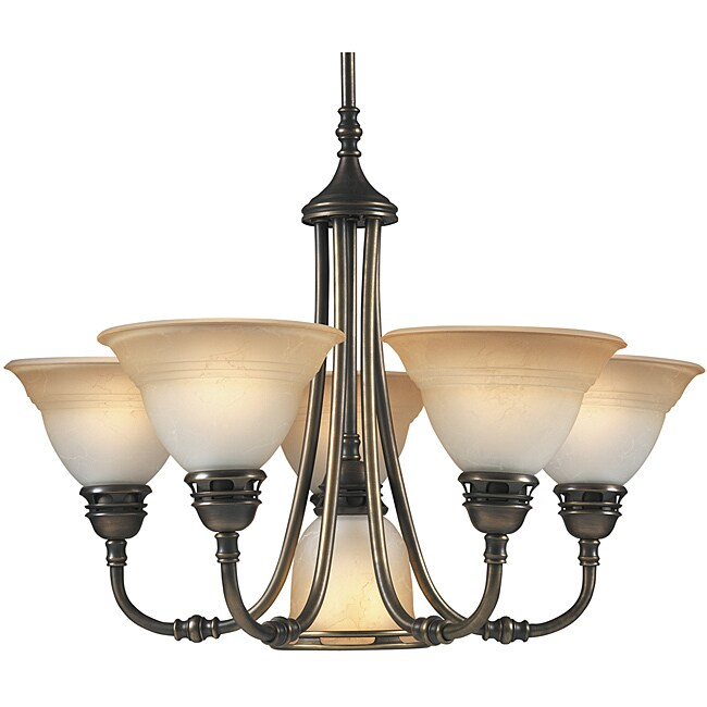 Aztec Lighting Transitional 6-light Antique Brass Chandelier - Thumbnail 0