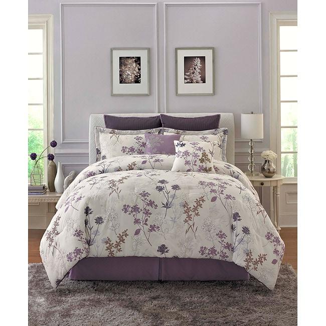 Meadow Flower 8-piece Queen-size Comforter Set