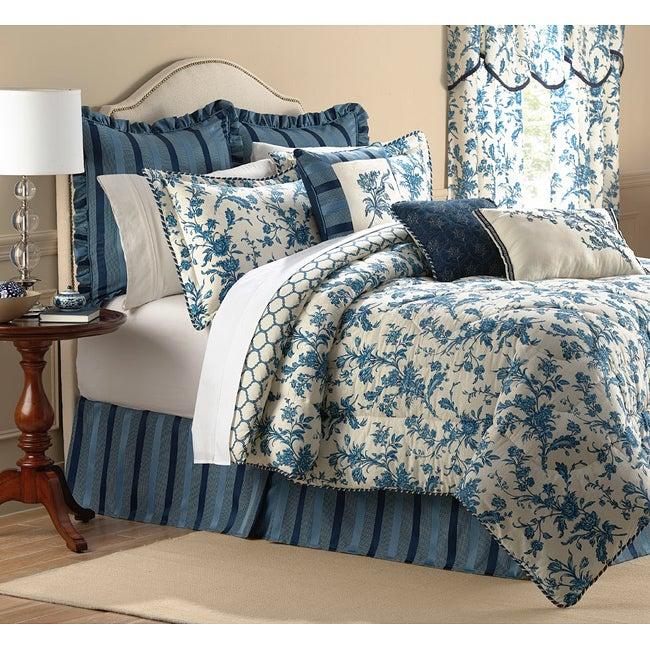 Williamsburg Spring Flowers 9-piece King-size Comforter Set
