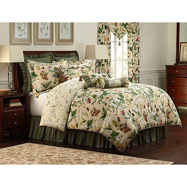 Williamsburg Garden Images 9 Piece King Size Comforter Set