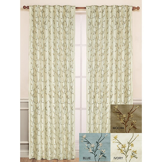 Winslet Emboidered Silk Window Panel (84-inch)