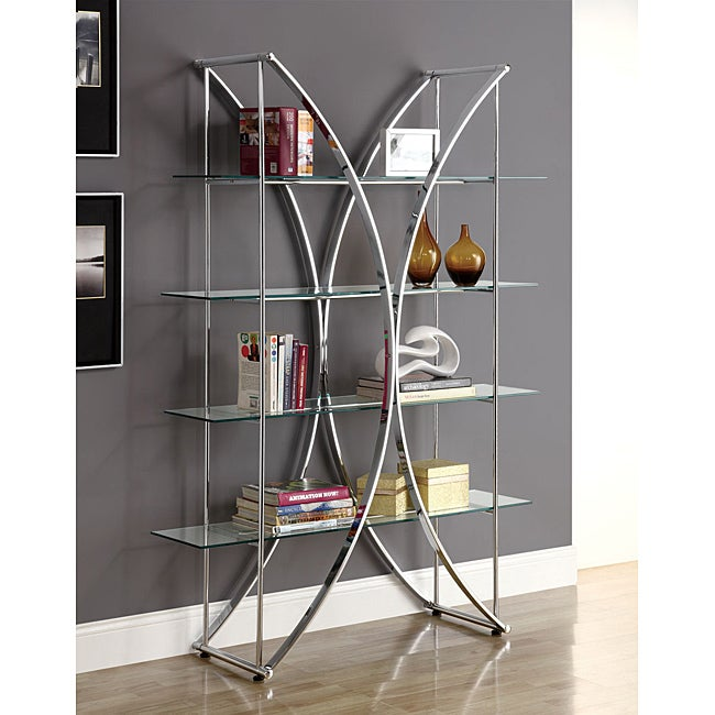 Chrome Etagere with Tempered Glass Shelves - Deals, Reviews & Prices - 14089608